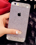 Silver Glitter powder rhinestone bling luxury case for iphone